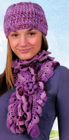 Вязание шарфов показать схемы