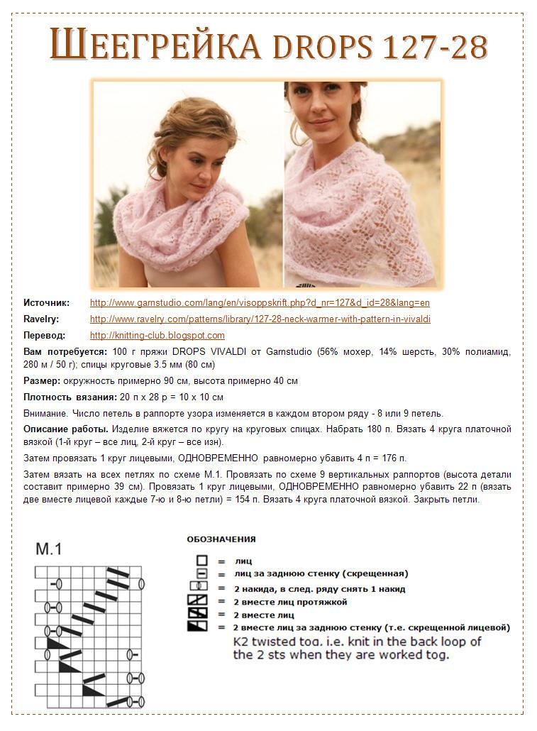 Вязание шарфа снуда спицами крючком 20162017 схемы описание