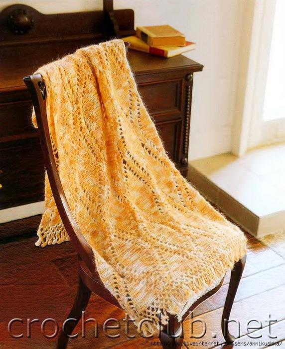 Вязание палантинов из меланжевой пряжи