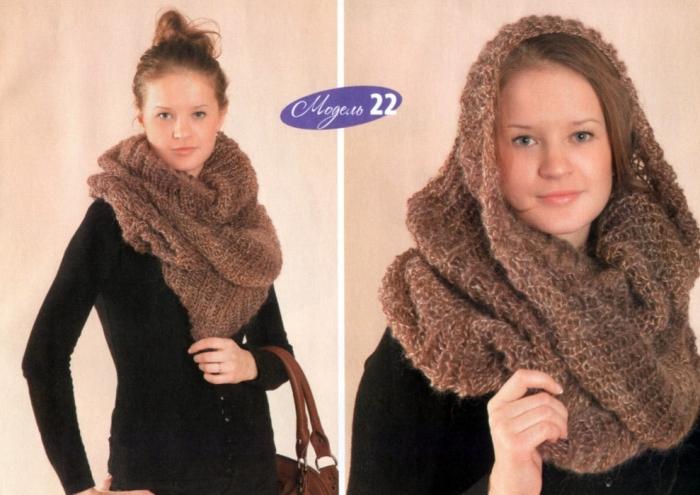 Новинка сезона осень-зима 2010 2011 - замкнутый шарф Snood (Снуд) из.
