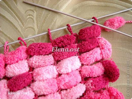 Вязание из помпонной пряжи 47