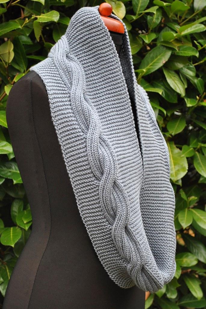 Шарф-снуд Millwater спицами | Шали, палантины и шарфы