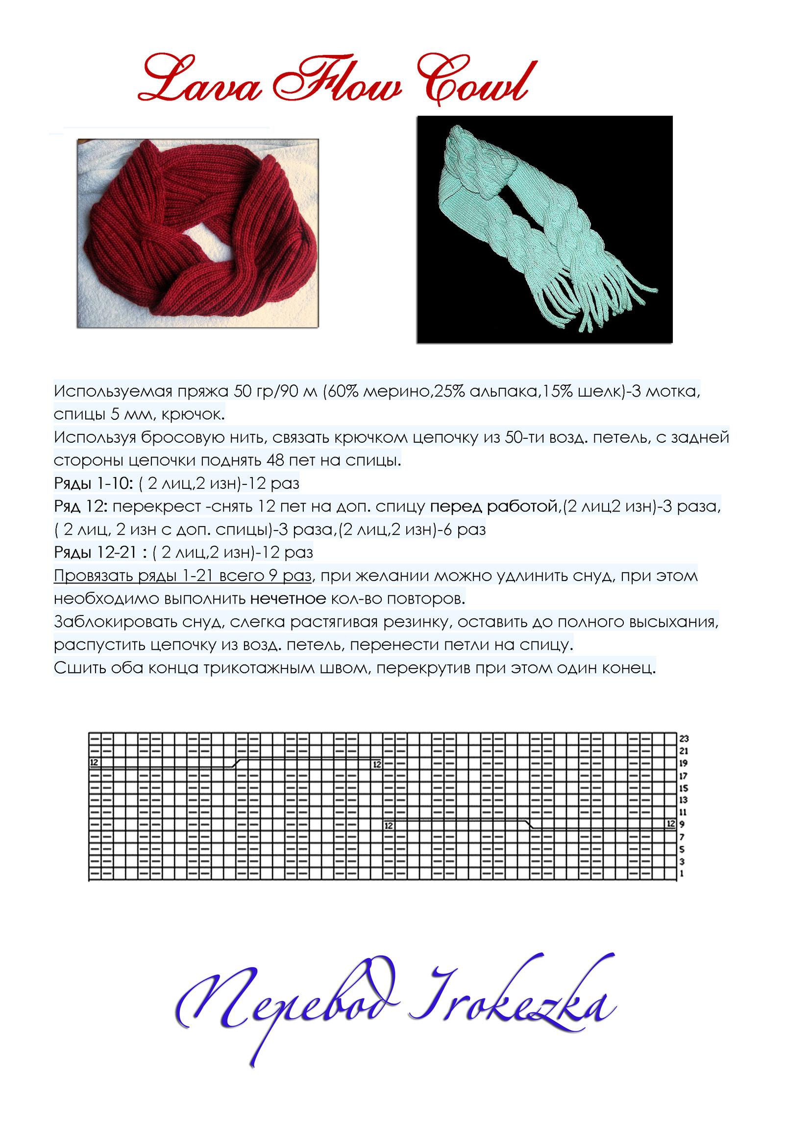 Как связать шарф - 36 моделей и схем с описанием для начинающих 3